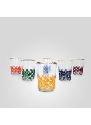 Fecra Fecra Ethnical 6'lı Su Bardağı Seti Renkli